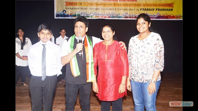 Student Melvin Matchavel & with Mom & Sister