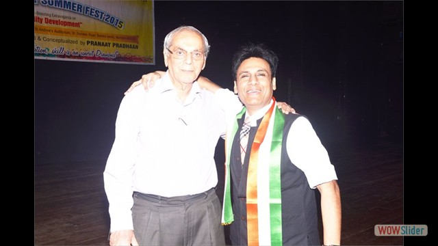 Mr.Gautam Garry Guptaa & Sr.Former Faculty Mr.Rasid Merchant