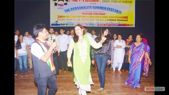 Students & Trainer Dancing & Mr.Gautam Garry Guptaa singing