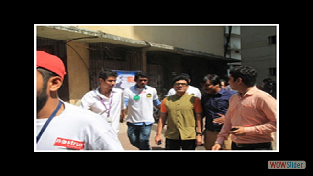 Gautam Garry Guptaa arriving & departure at the National College and being escorted by the students & accompanied by Senior Professors & co-ordinator.